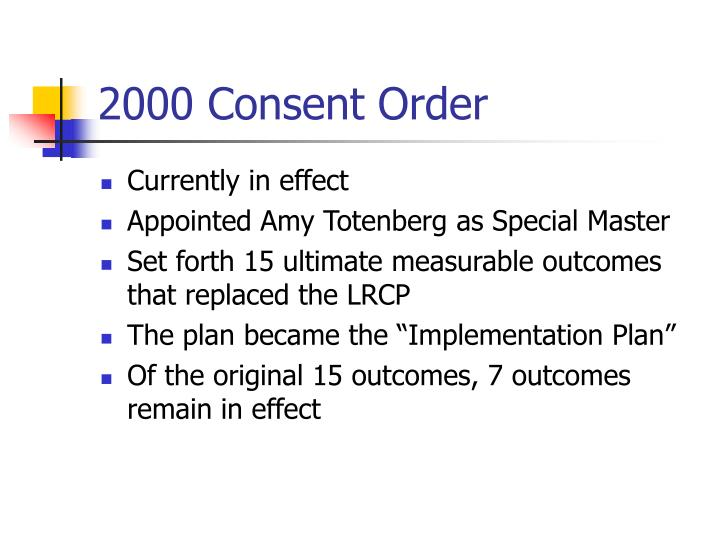 2000 consent order