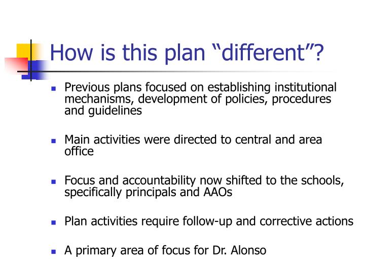"How is this plan ""different""?"
