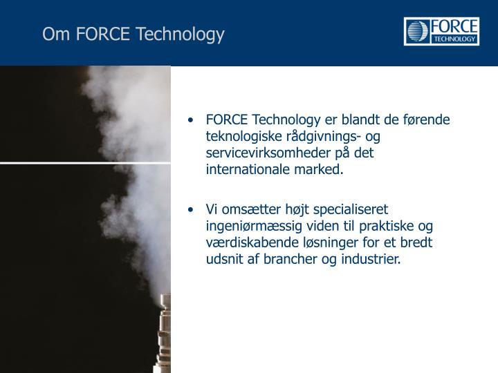 Om FORCE Technology
