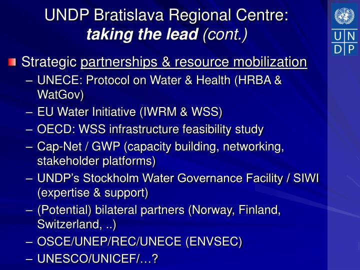 UNDP Bratislava Regional Centre: