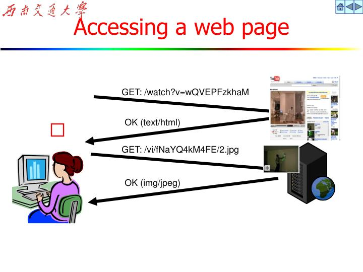 Accessing a web page