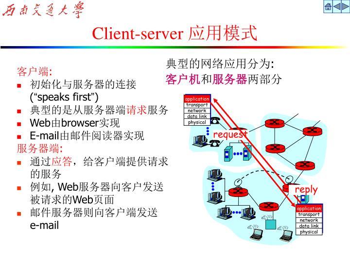 典型的网络应用分为