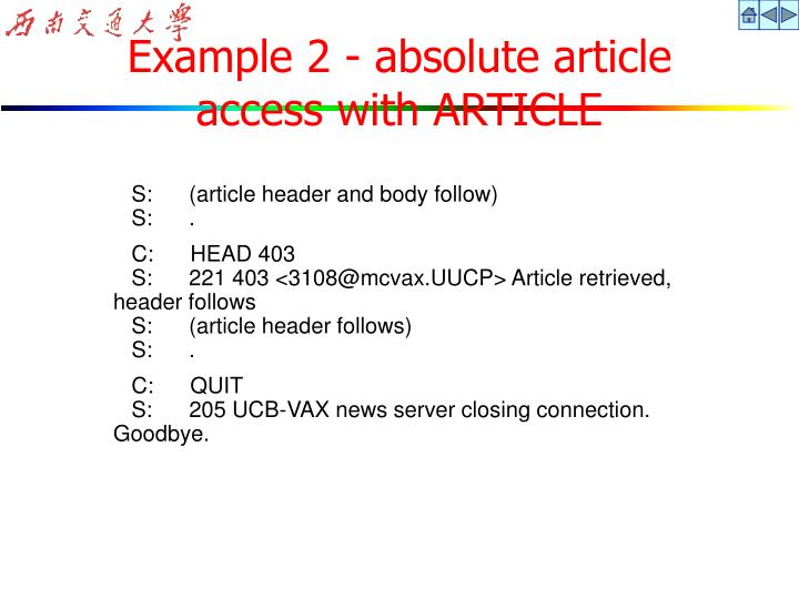 Example 2 - absolute article
