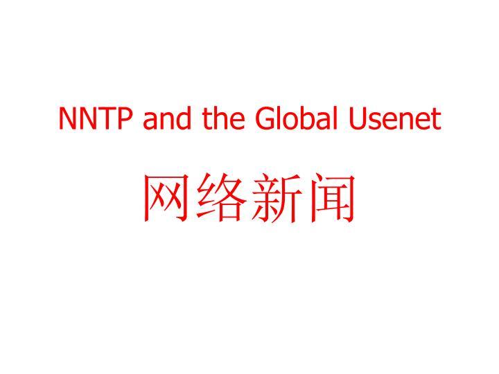 NNTP and the Global Usenet