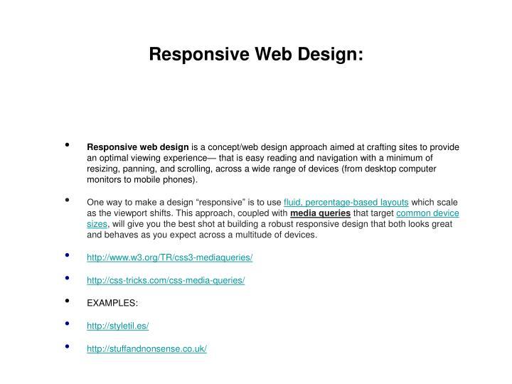 Responsive Web Design:
