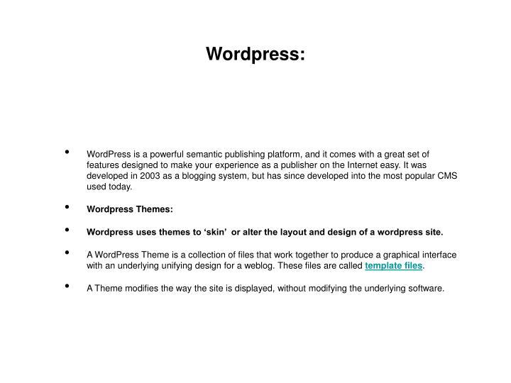 Wordpress: