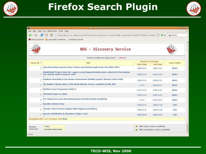 Firefox Search Plugin