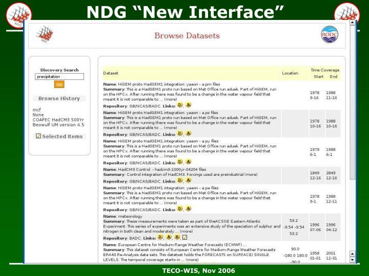 "NDG ""New Interface"""