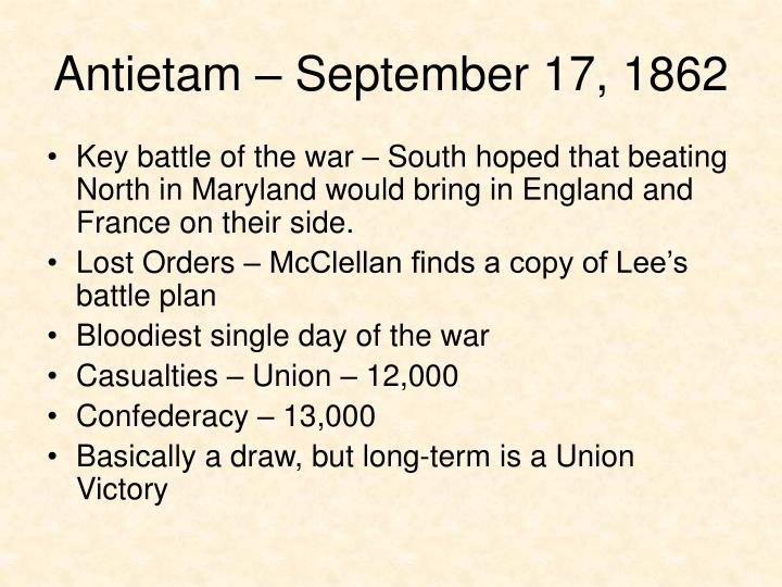 Antietam – September 17, 1862