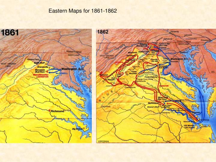 Eastern Maps for 1861-1862