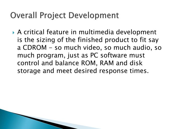 Overall Project Development