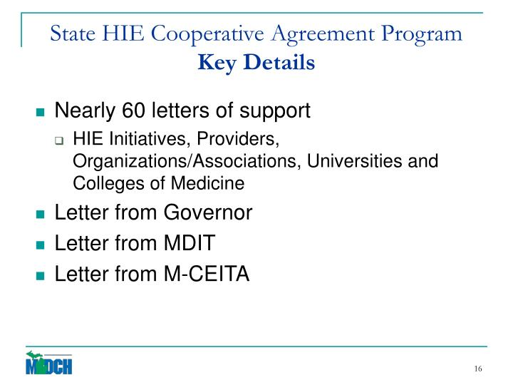 State HIE Cooperative Agreement Program