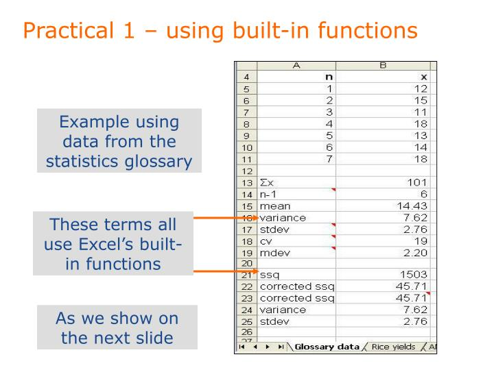 Practical 1 – using built-in functions
