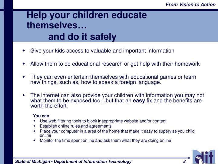Help your children educate themselves…
