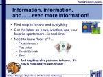 information information and even more information1
