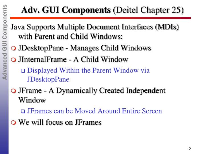Adv gui components deitel chapter 25