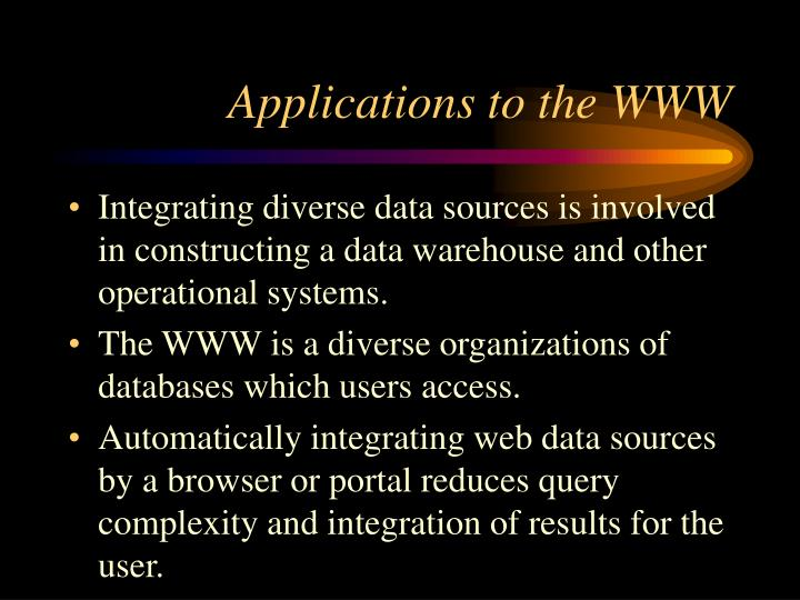 Applications to the WWW