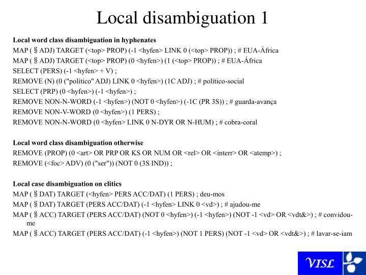 Local disambiguation 1