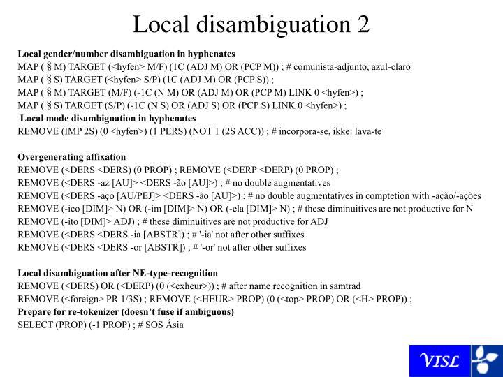 Local disambiguation 2