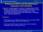 phasing out hcfcs and strengthening of capacities and institutions