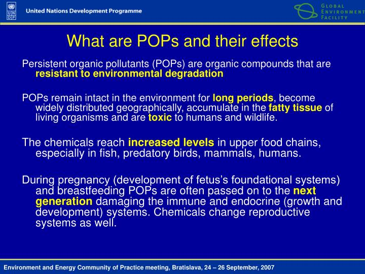 What are POPs and their effects