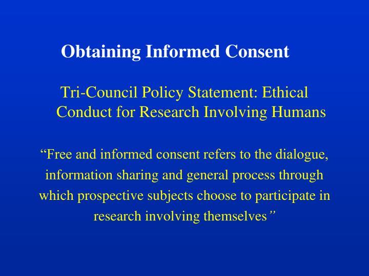 Obtaining Informed Consent