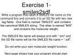 exercise 1 smiles2sdf