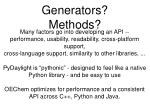 generators methods