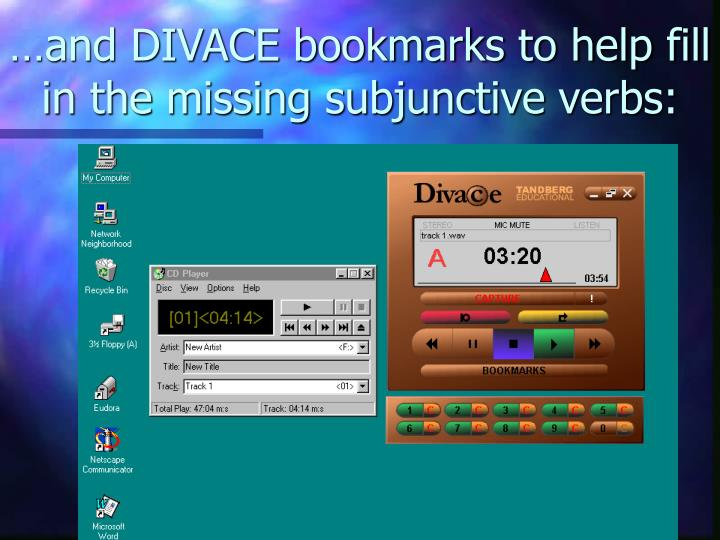 …and DIVACE bookmarks to help fill in the missing subjunctive verbs: