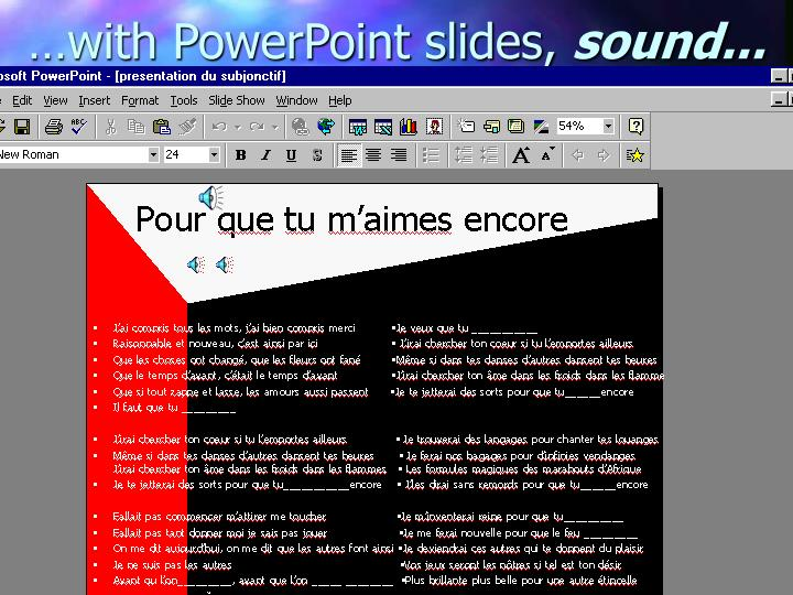 …with PowerPoint slides,