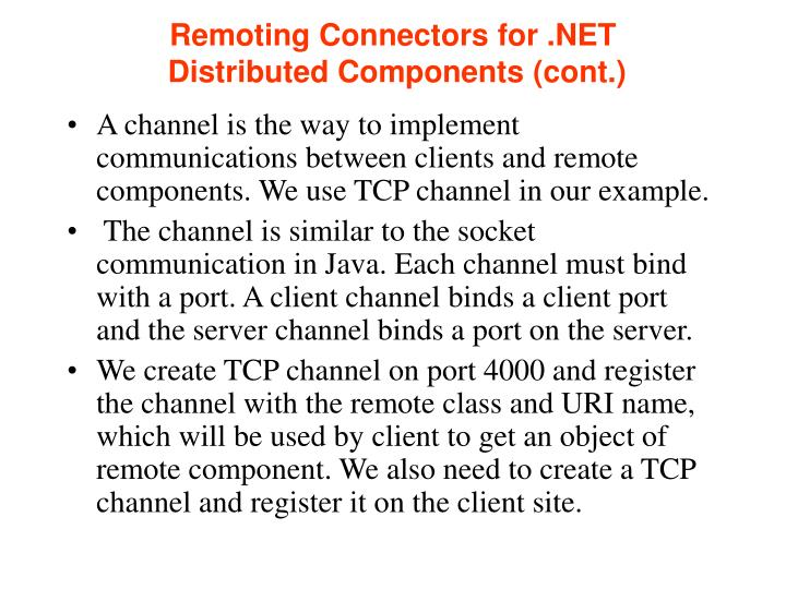 Remoting Connectors for .NET
