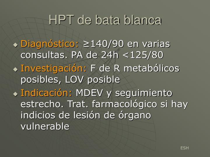 HPT de bata blanca