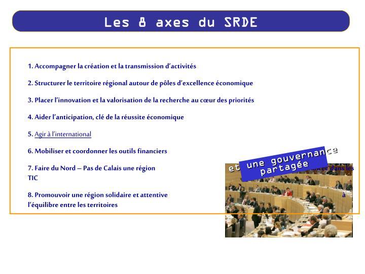 Les 8 axes du SRDE