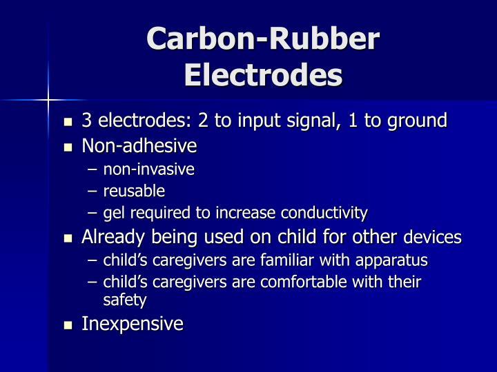 Carbon-Rubber Electrodes