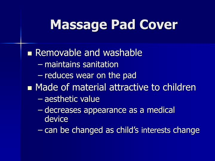 Massage Pad Cover