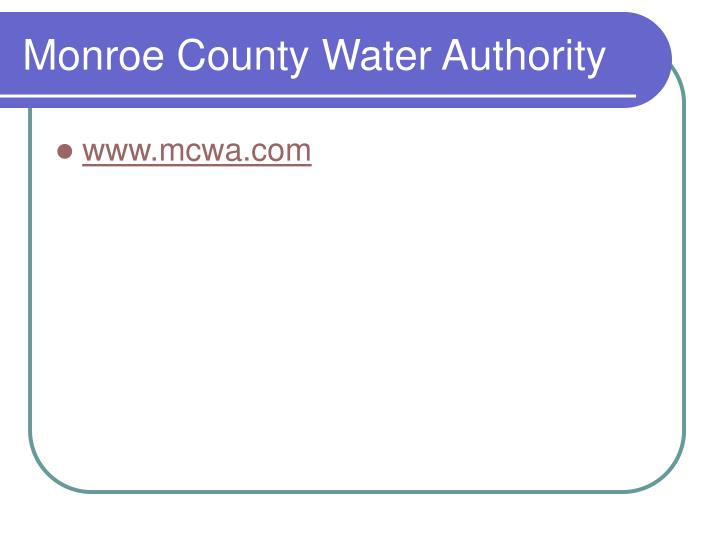 Monroe County Water Authority