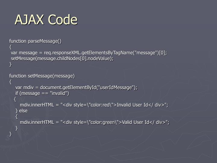 AJAX Code