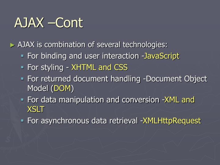 AJAX –Cont