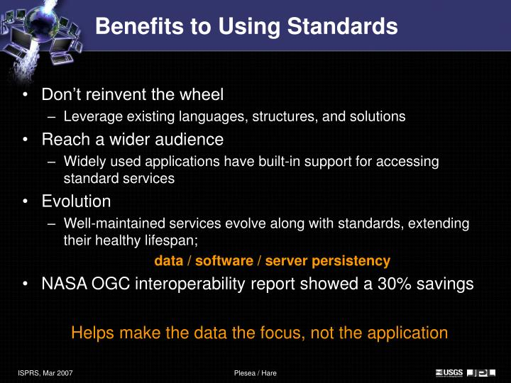 Benefits to Using Standards