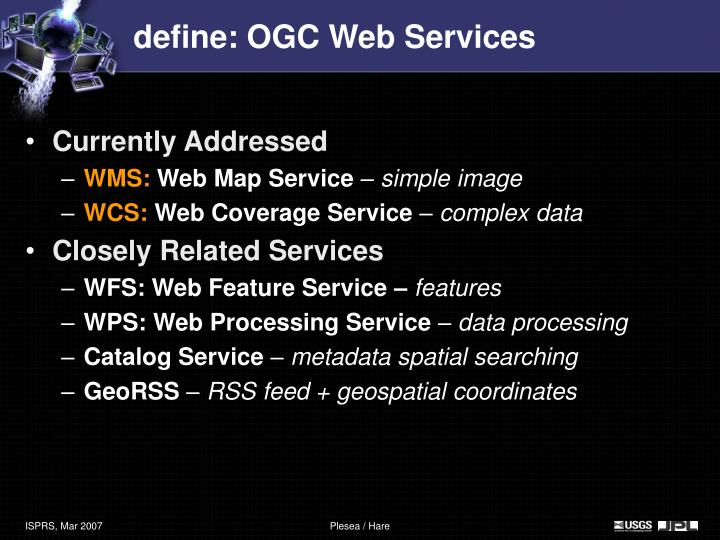 define: OGC Web Services