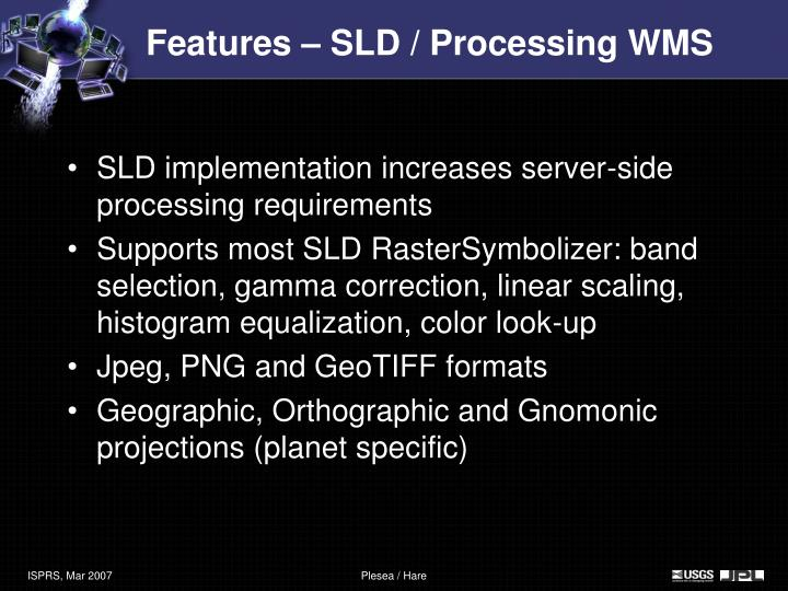 Features – SLD / Processing WMS