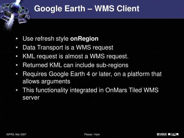 Google Earth – WMS Client