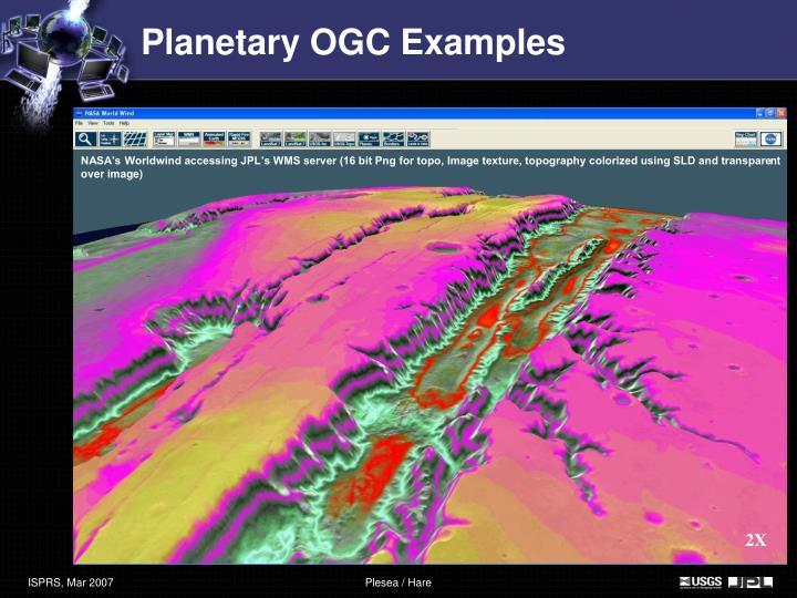 Planetary OGC Examples
