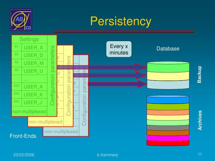 Configuration parameters