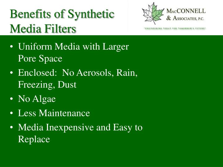 Benefits of Synthetic Media Filters