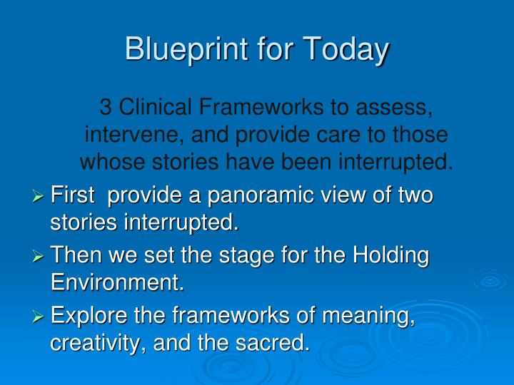 Blueprint for Today