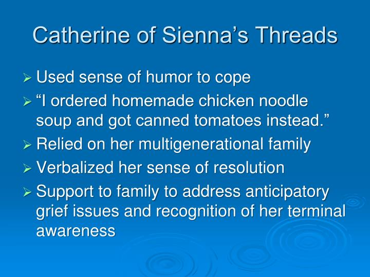 Catherine of Sienna's Threads