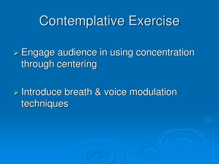 Contemplative Exercise