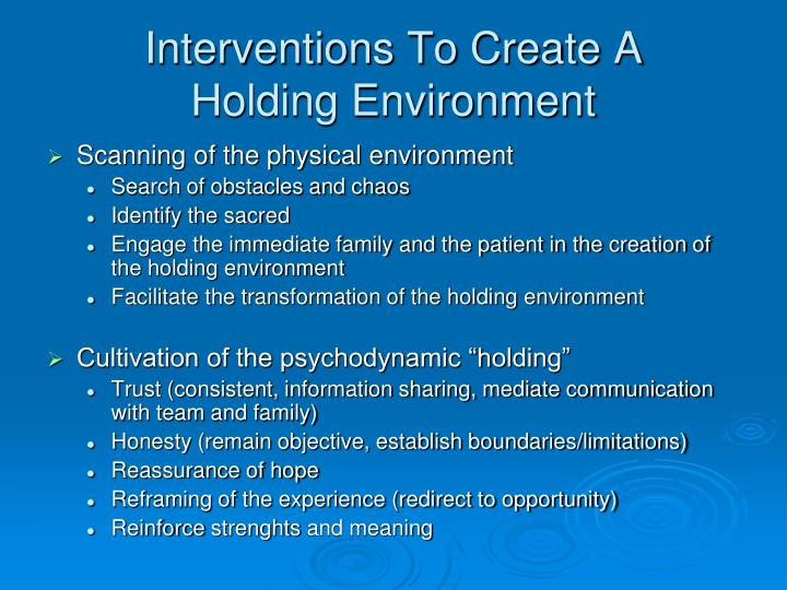 Interventions To Create A