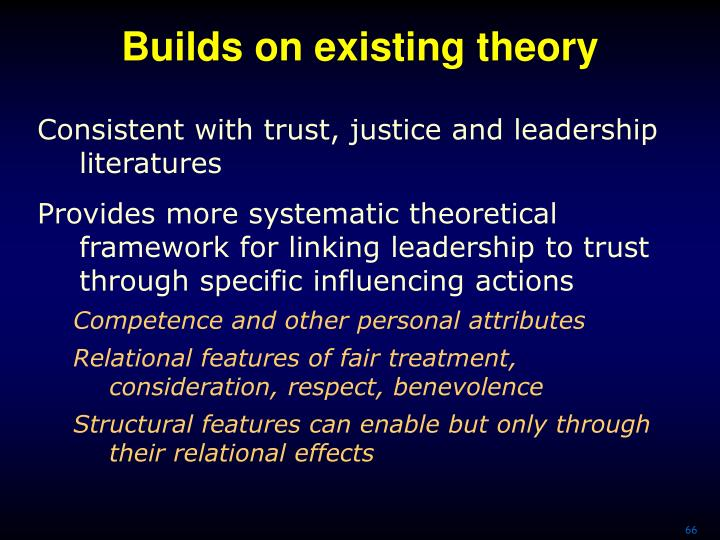 Builds on existing theory